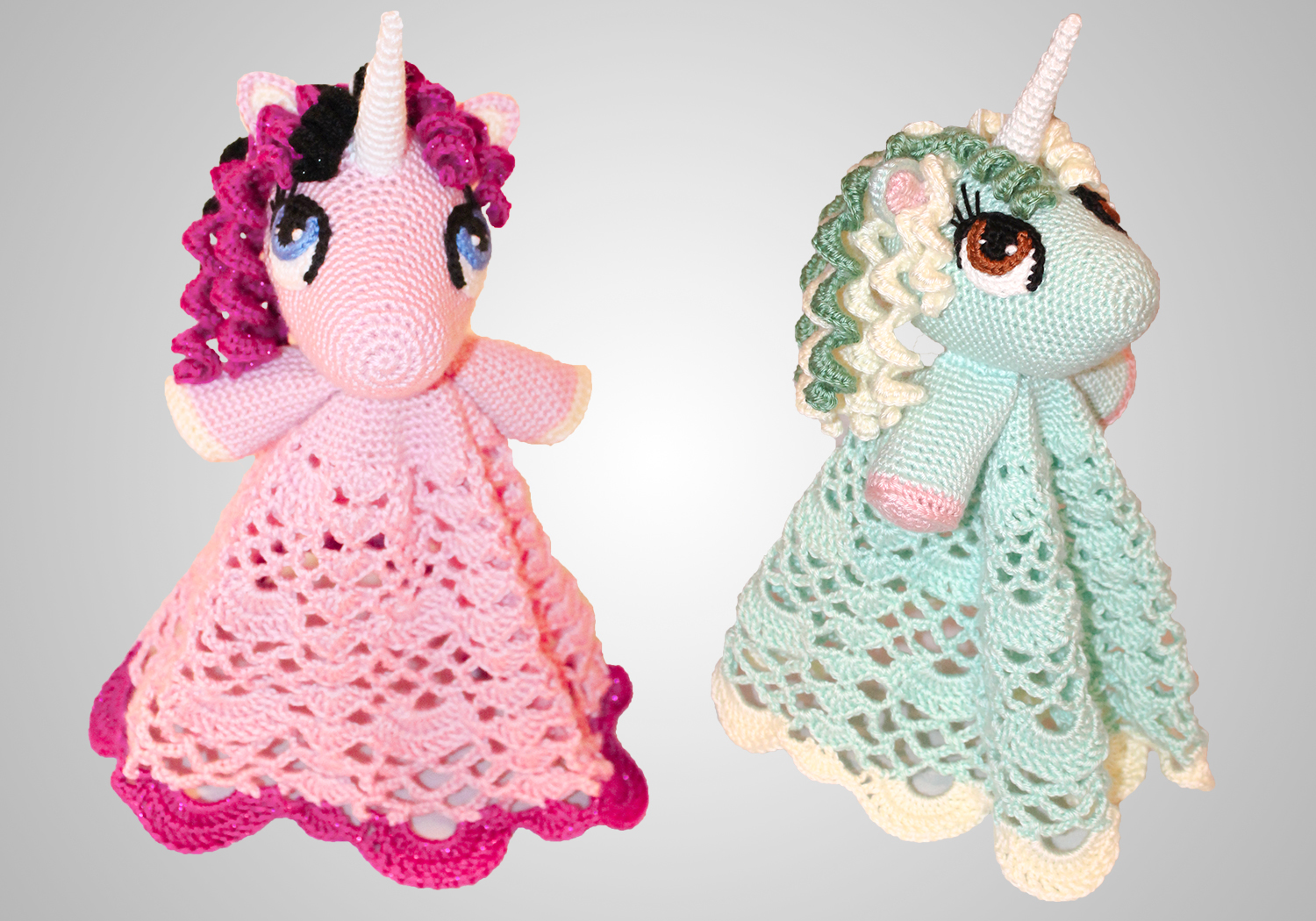 easy crochet unicorn lovey