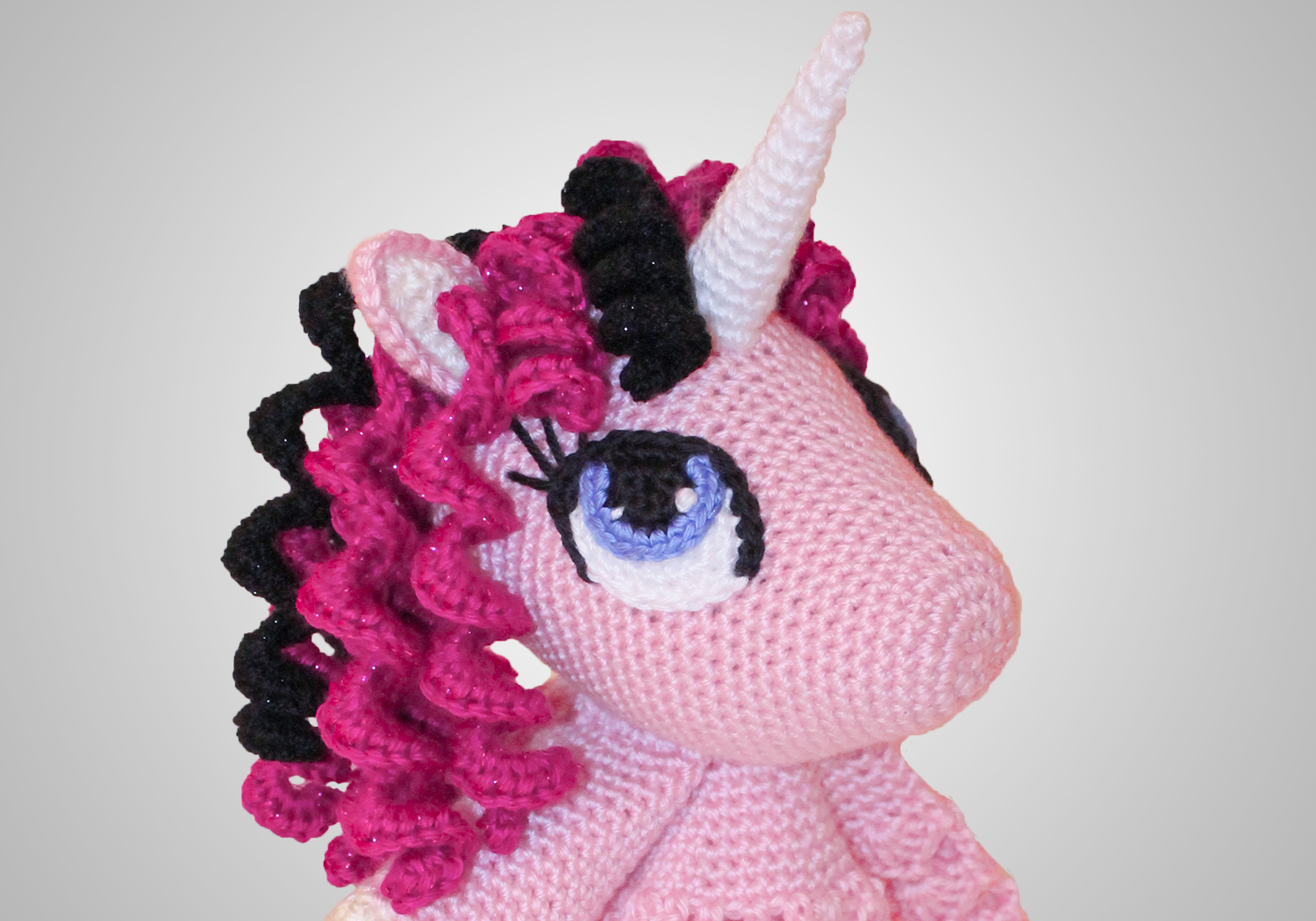 easy pink unicorn lovey