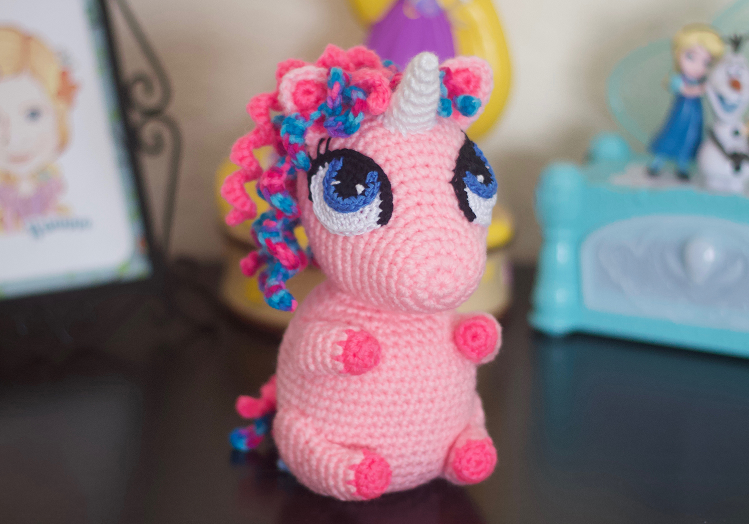 Red Heart Sparkle and Shimmer Crochet Unicorn | Yarnspirations | 1050x1500