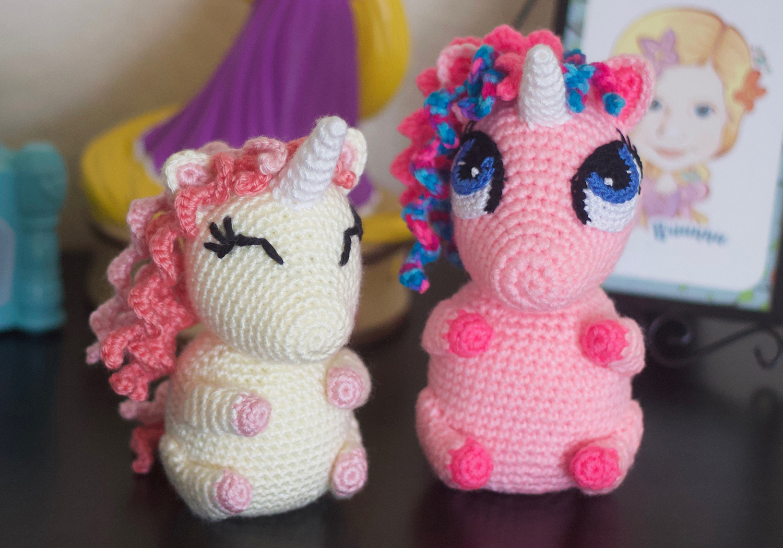 crochet unicorn pudgy pal