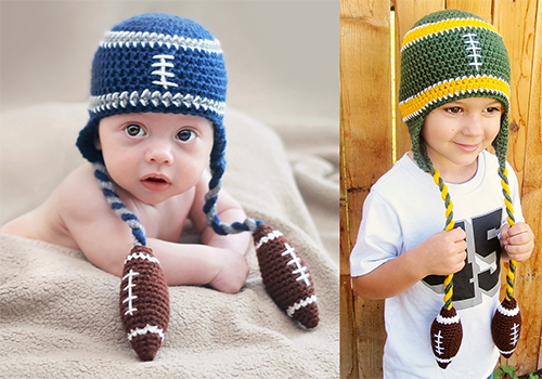 football beanie pattern