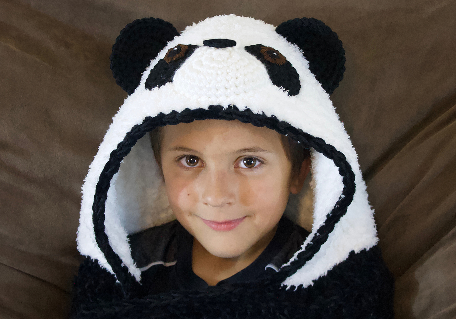 easy panda hooded blanket