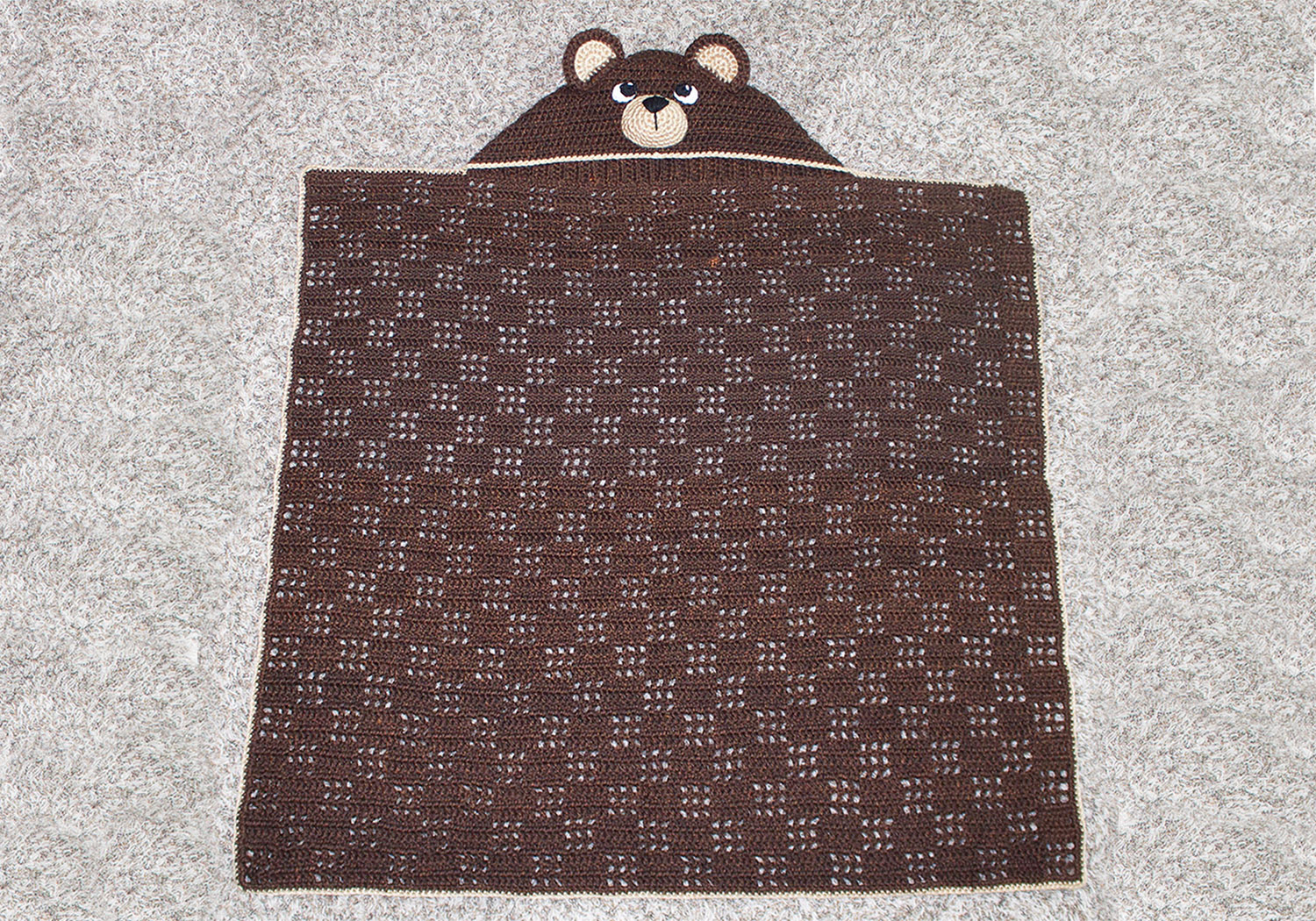 teddy bear hooded blanket