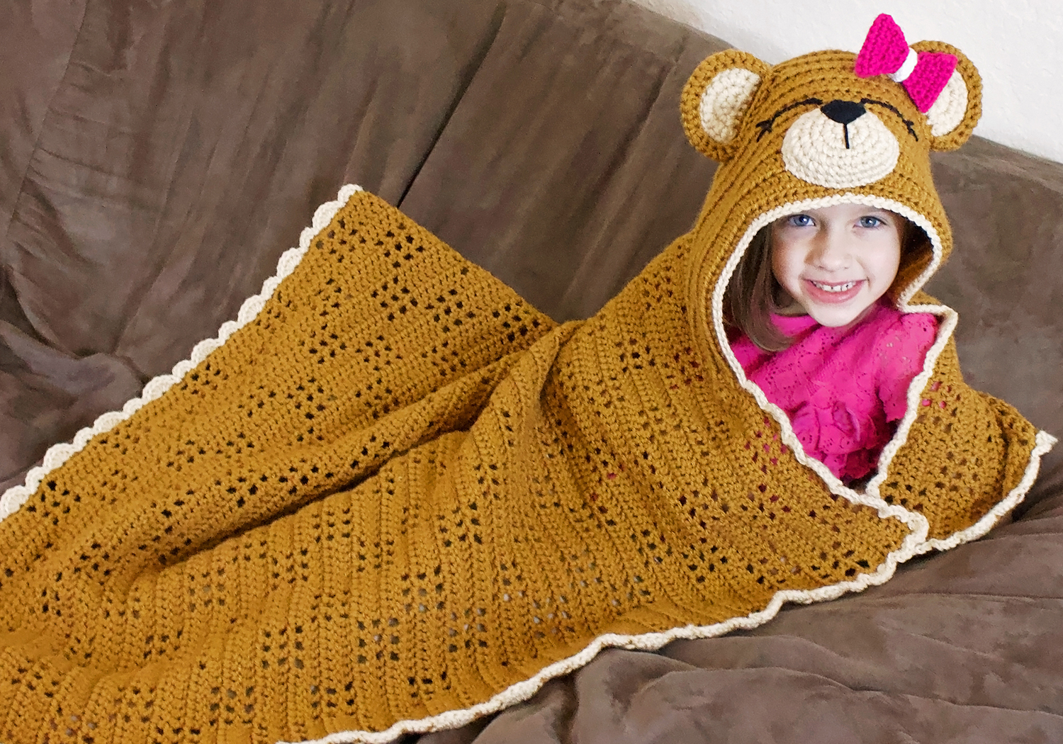 crochet teddy bear blanket