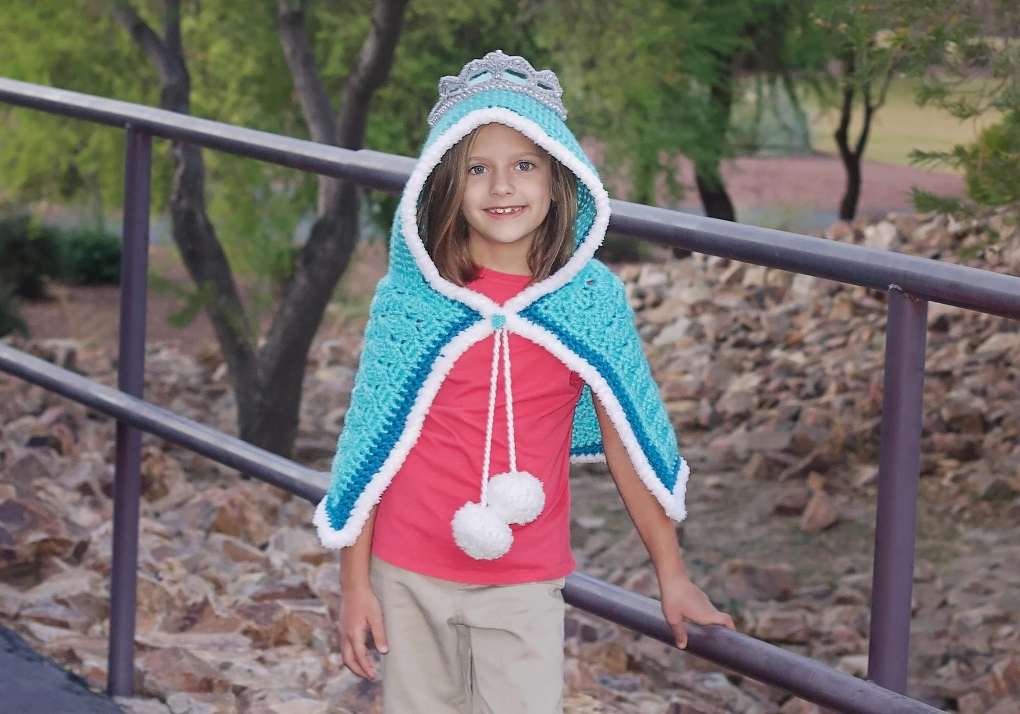 Crochet Princess Hooded Shawl