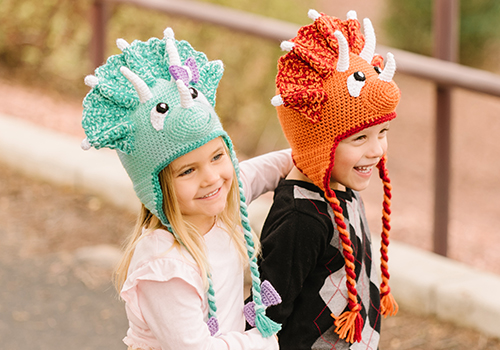 Crochet Triceratops Hat Pattern