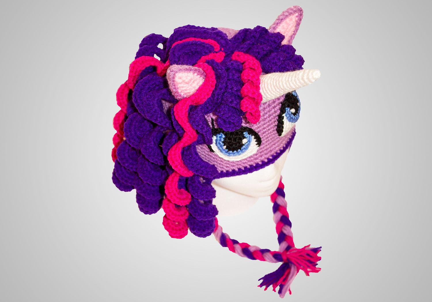 Crochet Girl Pony Hat