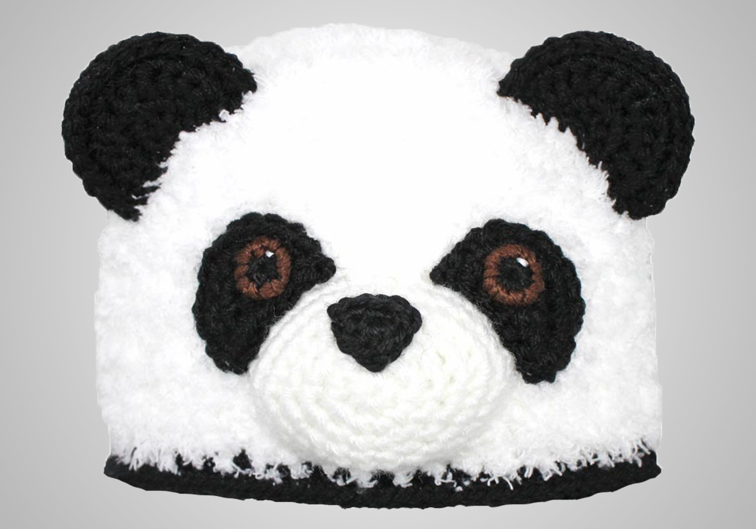 Furry Panda Hat Crochet Pattern
