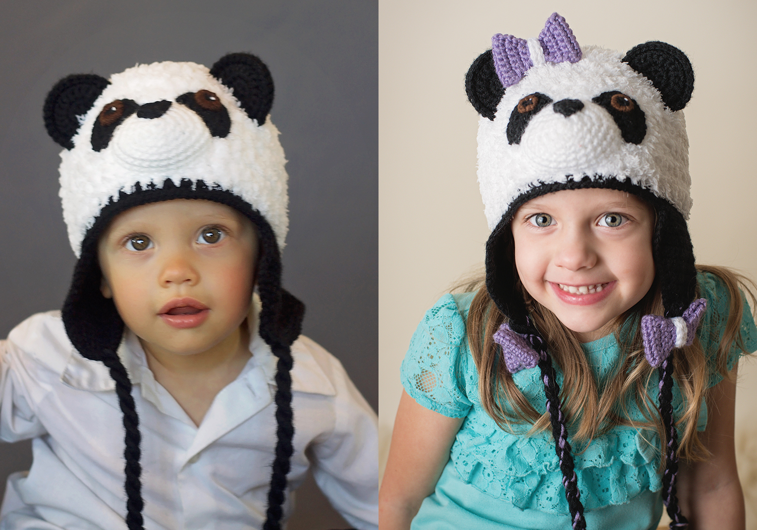 Matching Panda Hat Pattern