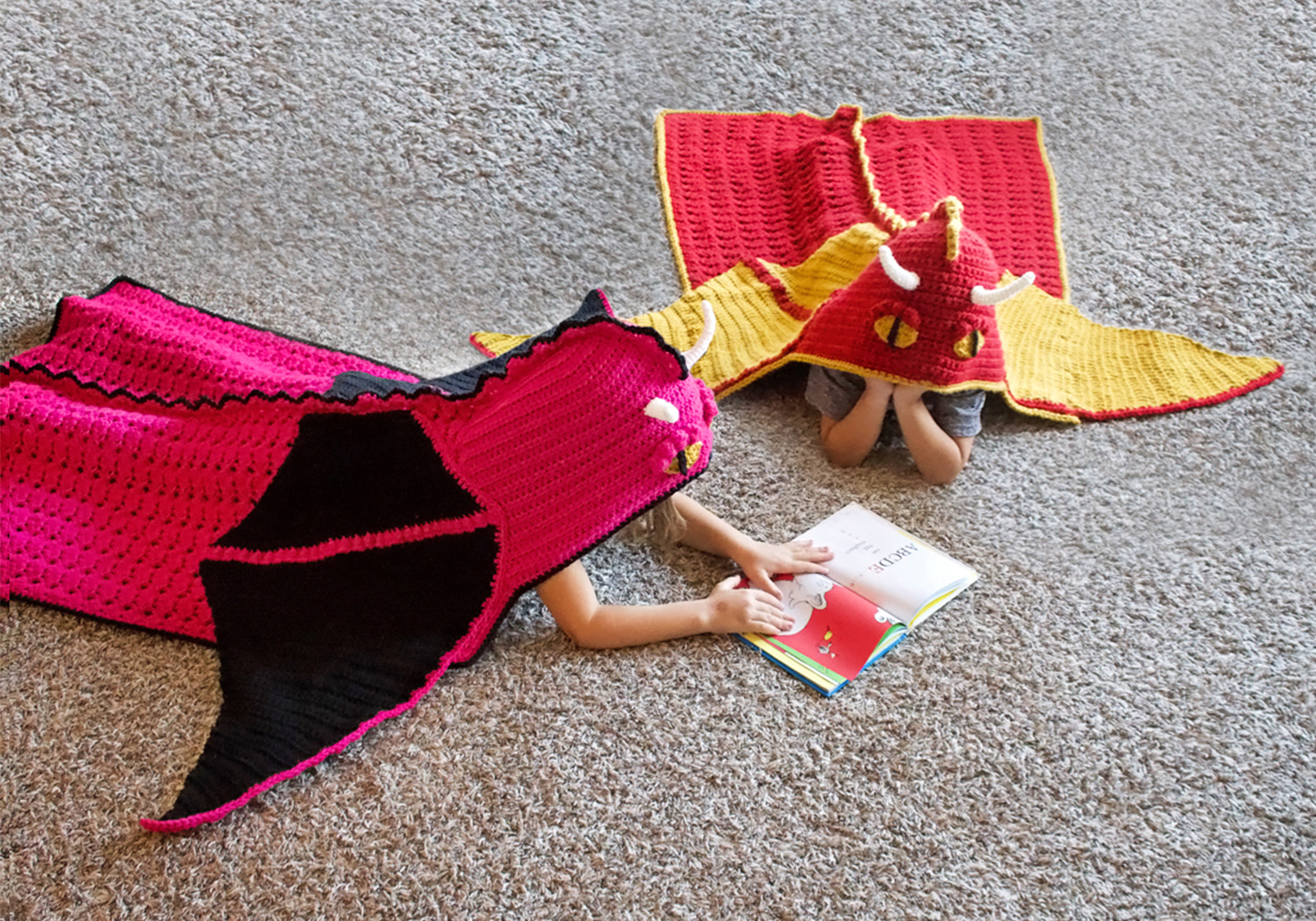 dragon hooded blanket crochet pattern