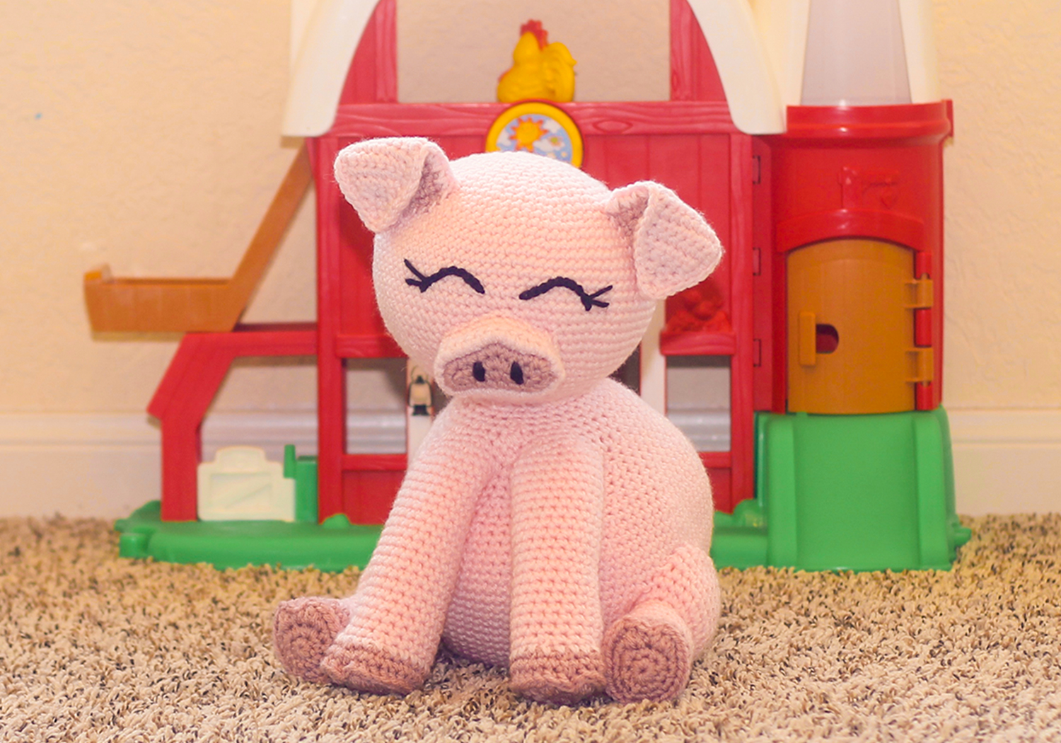 cute stuffed pig pattern