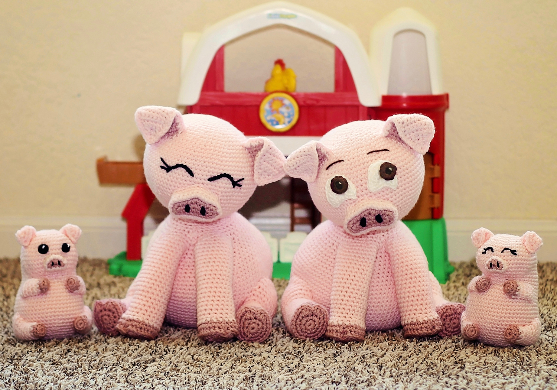 crochet stuffed pig pattern
