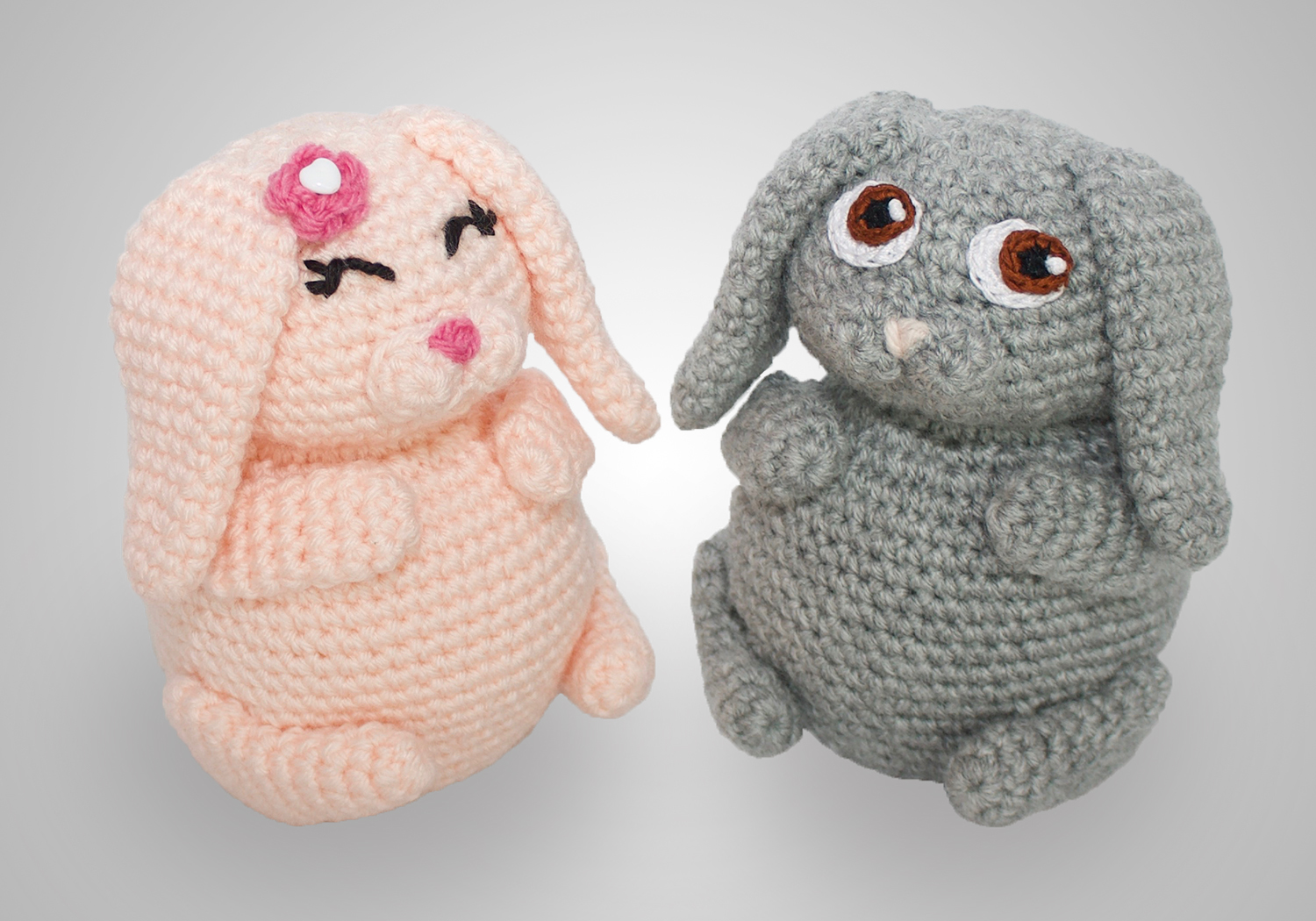 cute bunny pudgy pals