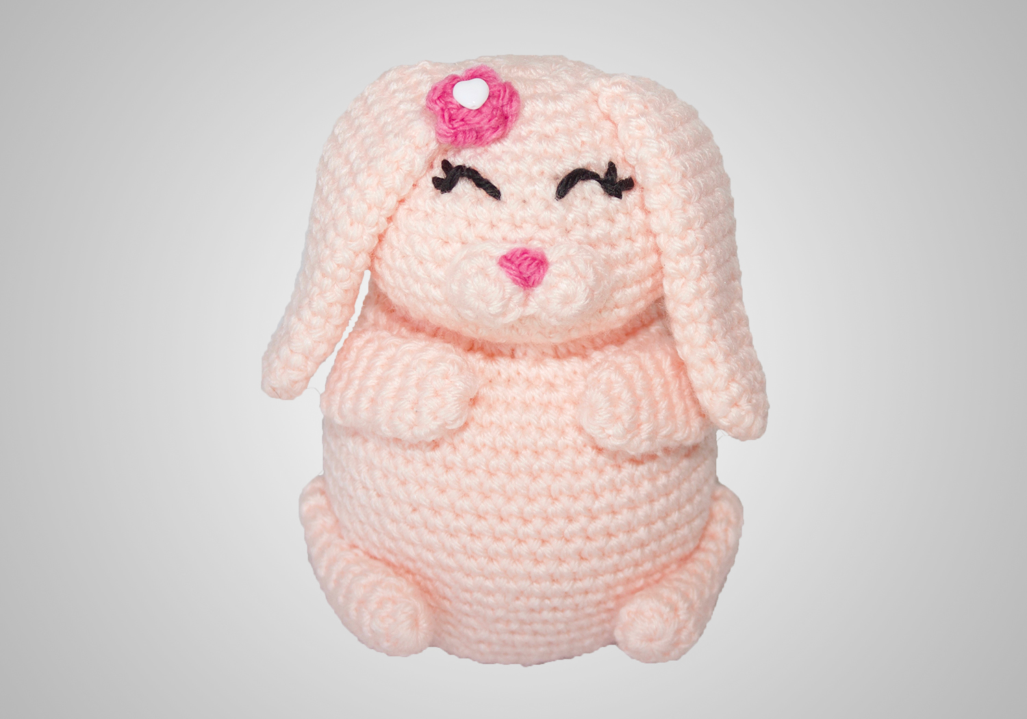 easy crochet bunny pudgy pal