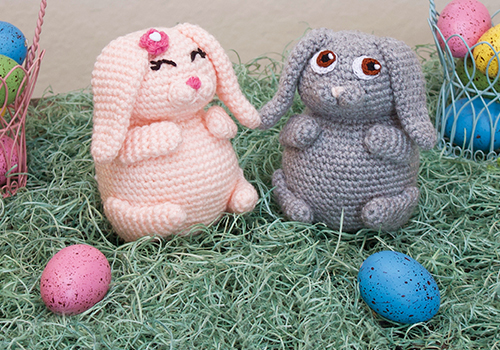 crochet bunny pudgy pal