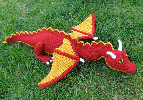 crochet dragon toy pattern