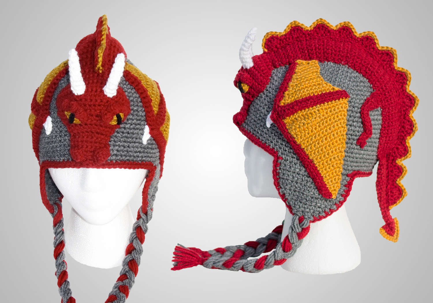 cool dragon hat crochet pattern