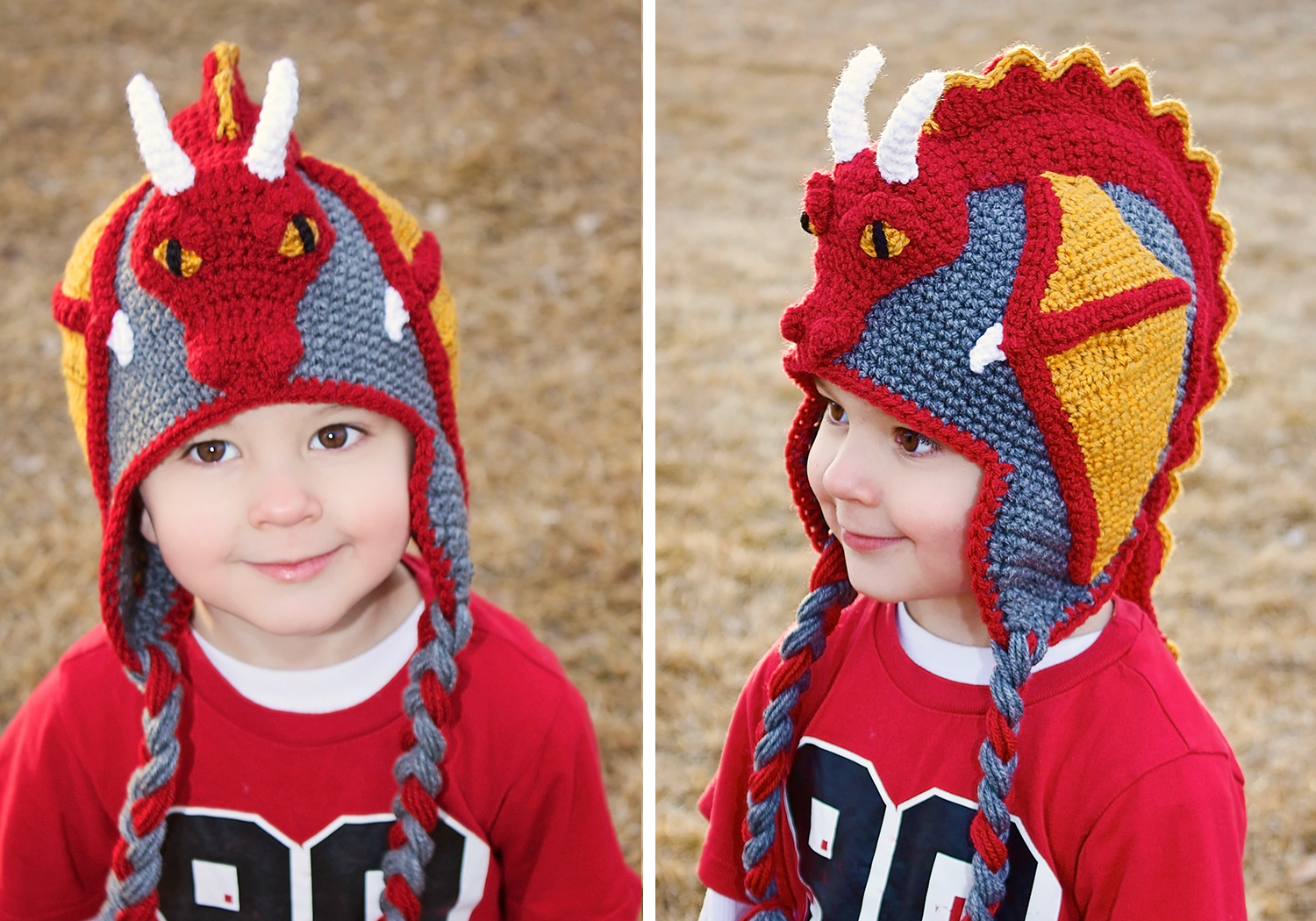 boy dragon hat crochet pattern