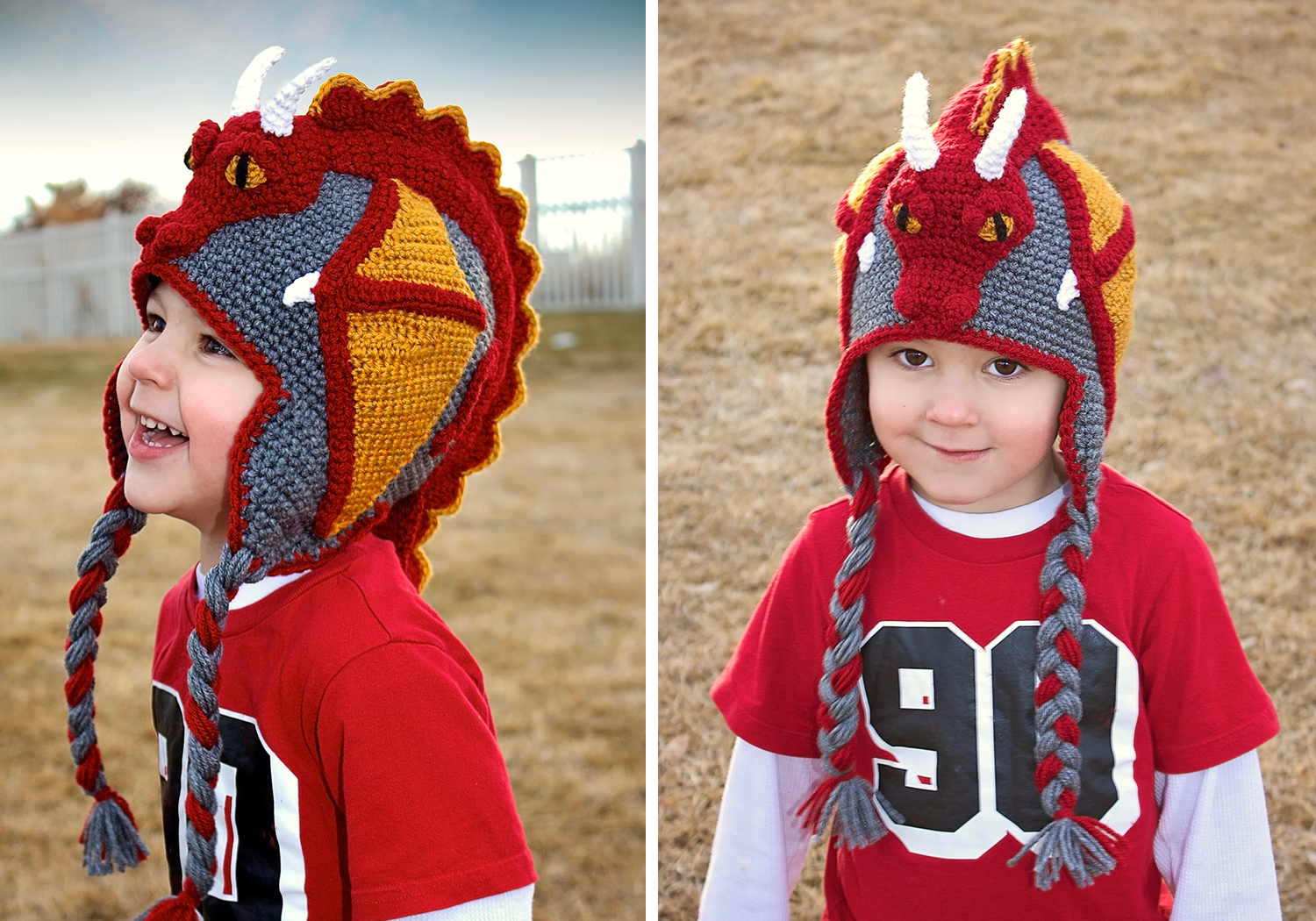 crochet pattern dragon hat