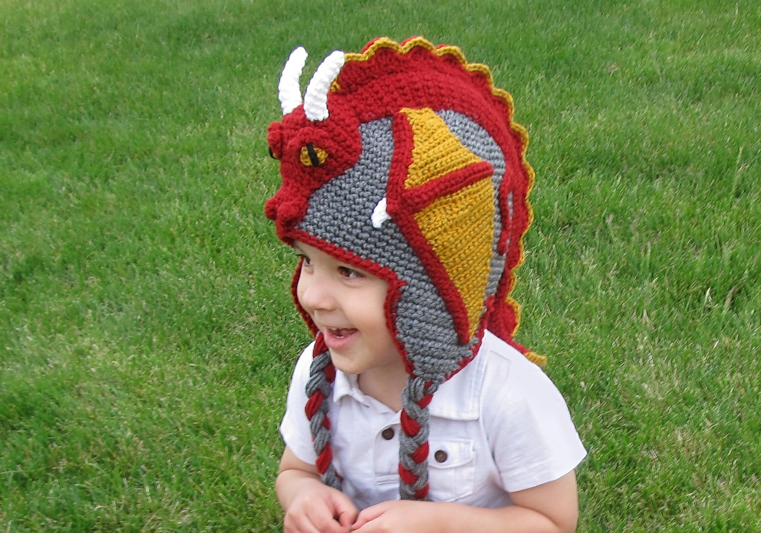 awesome crochet dragon hat