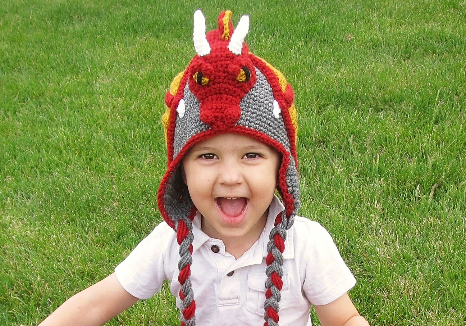 cute dragon hat pattern