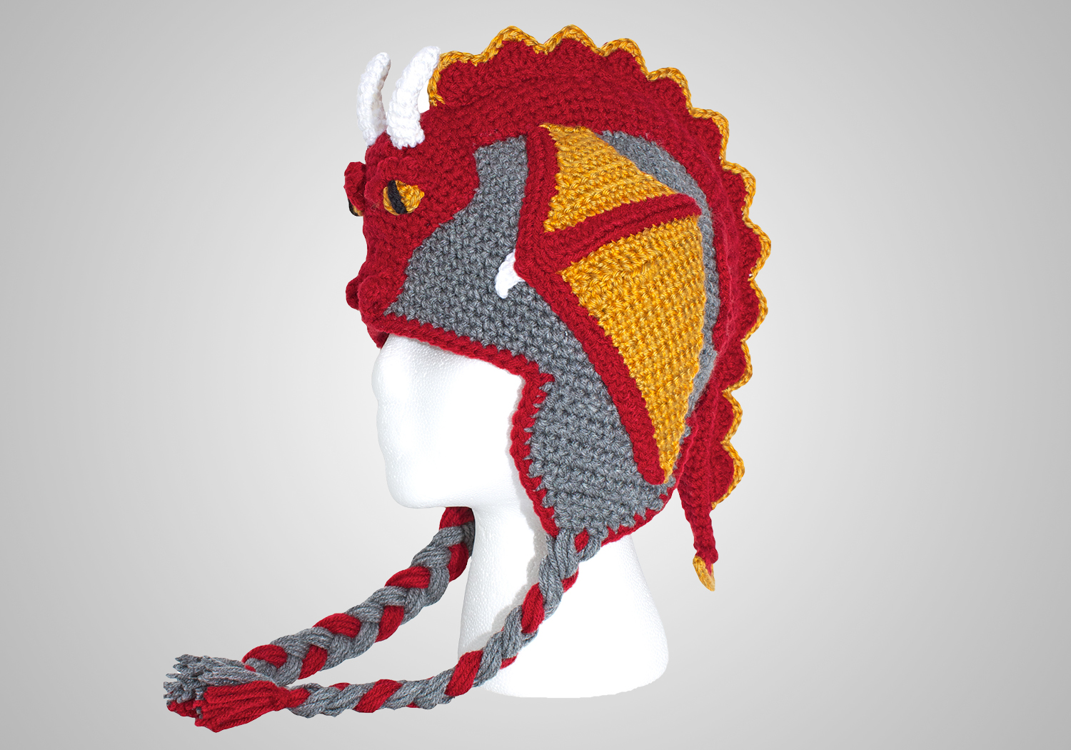 cute dragon hat crochet pattern