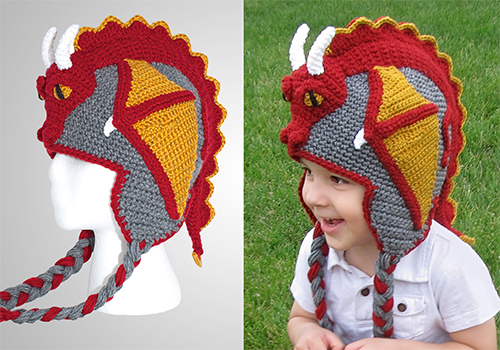 crochet dragon hat pattern