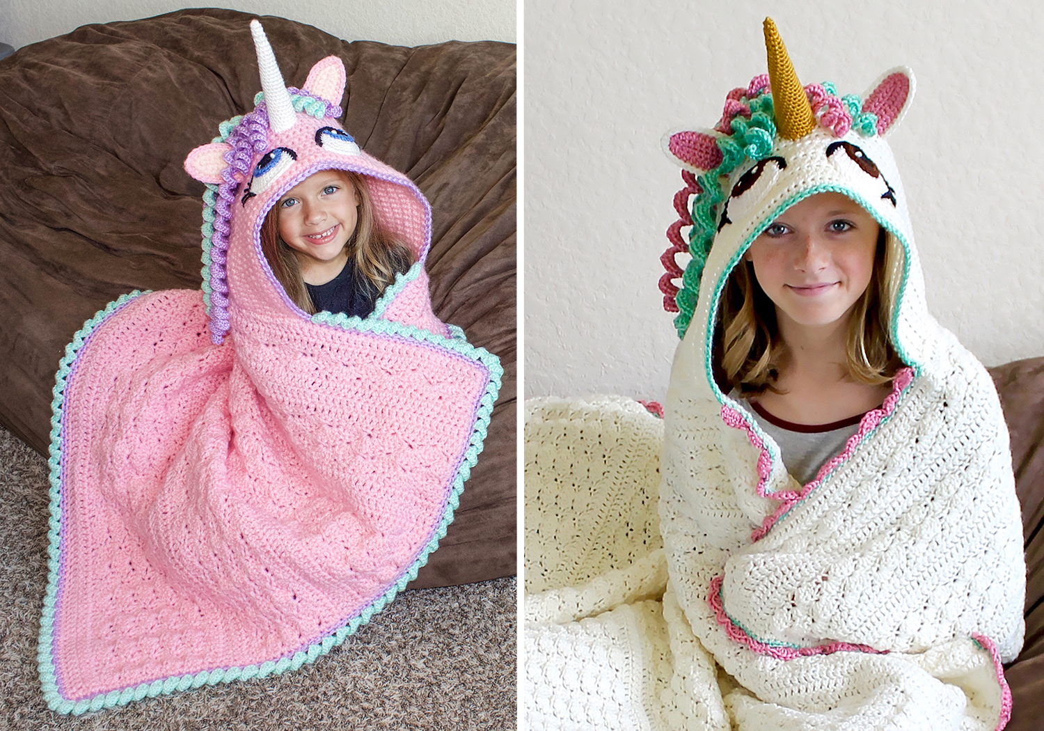 beautiful unicorn hooded blanket