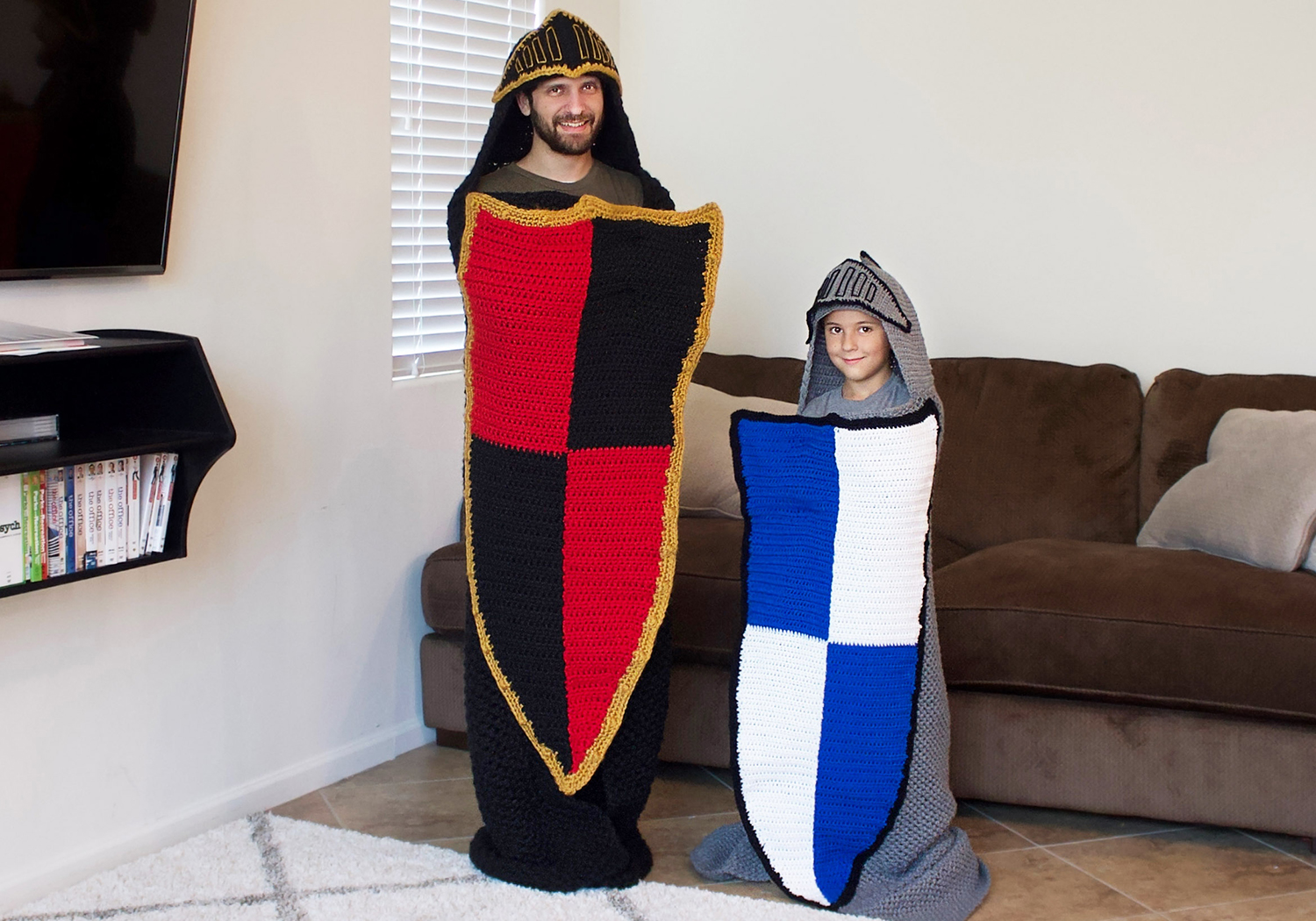 hooded knight blanket pattern