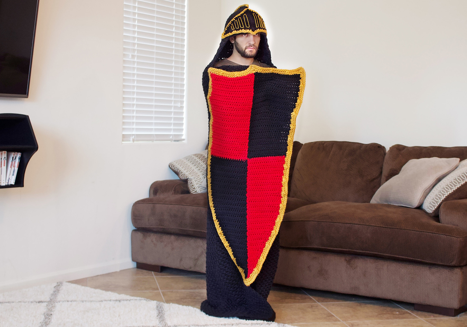 awesome crochet knight blanket