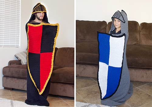 Crochet Hooded Knight Blanket Pattern