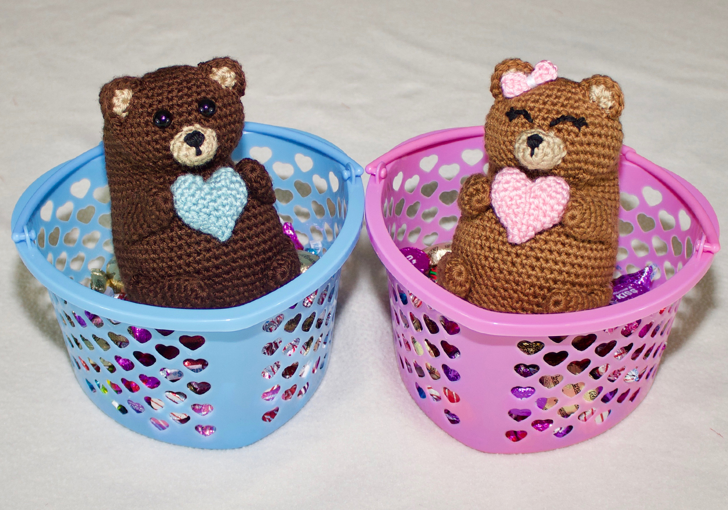 crochet valentines brown bears