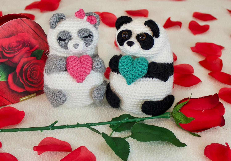 crochet panda pudgy pals