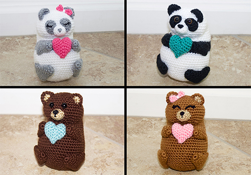 crochet bears pudgy pal