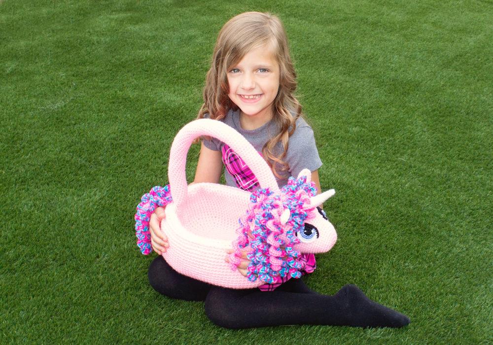 Unicorn Basket Crochet Pattern