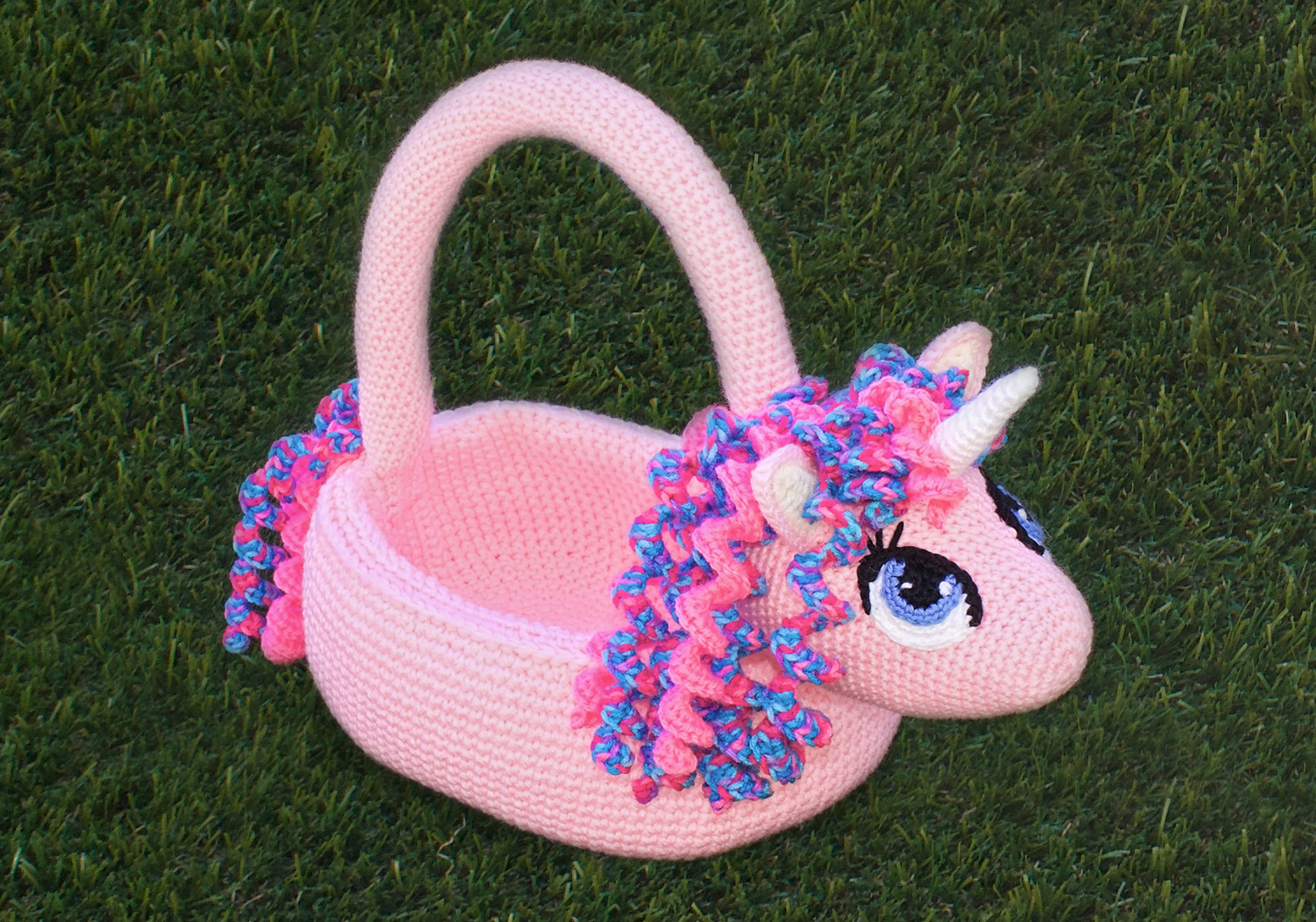 Crochet Easter Unicorn Basket