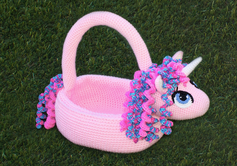 Girl Unicorn Basket Pattern