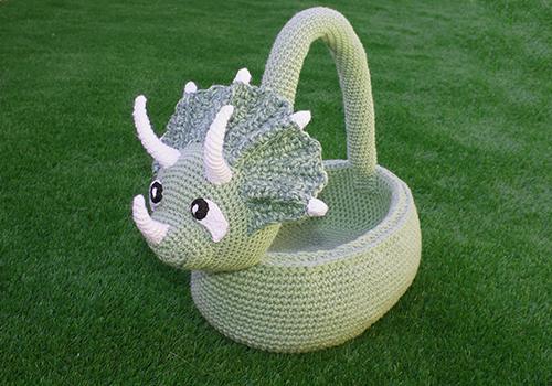 Triceratops Basket Pattern