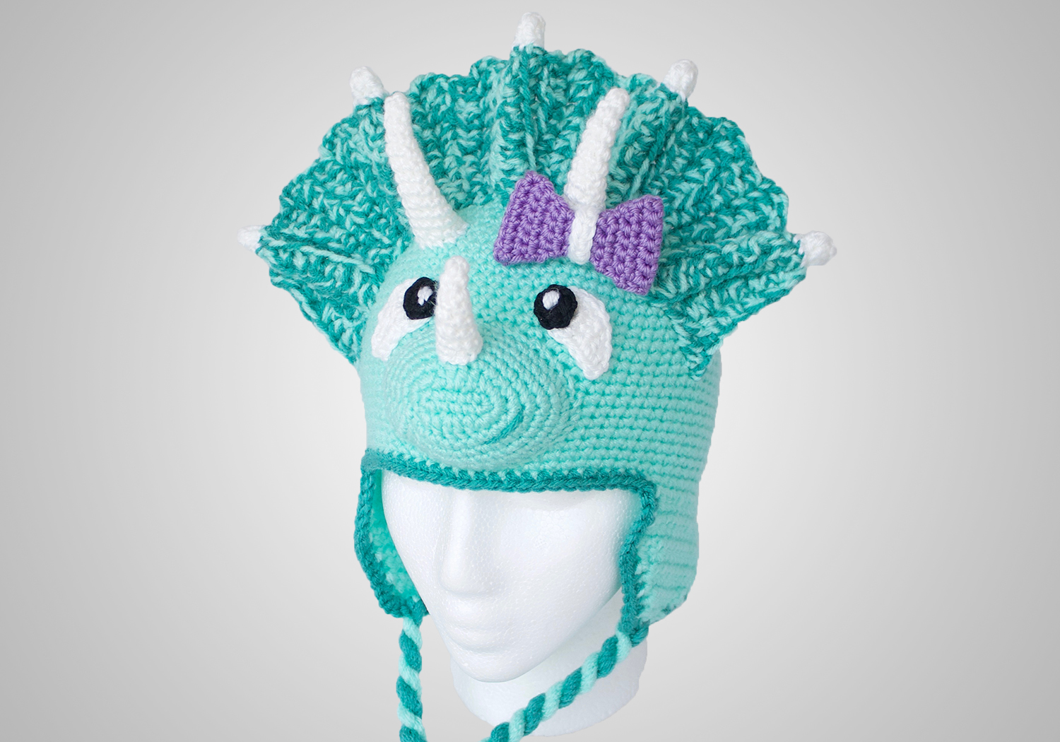 girl triceratops hat