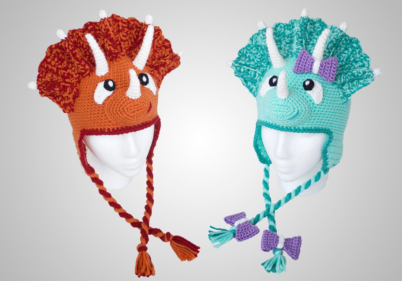 crochet dinosaur hat