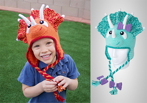 triceratops hat pattern