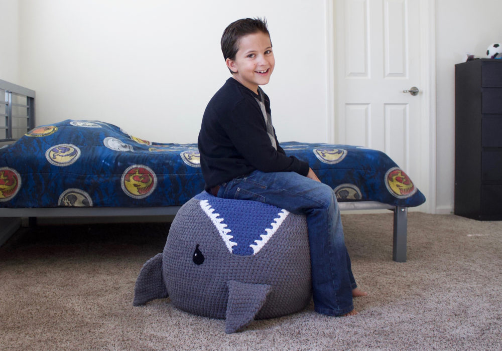 Shark Pouf Crochet Pattern