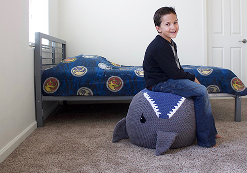 Crochet Shark Pouf Pattern