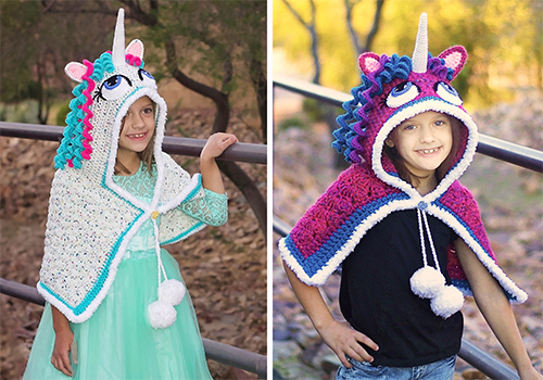 Hooded Unicorn Cape Pattern