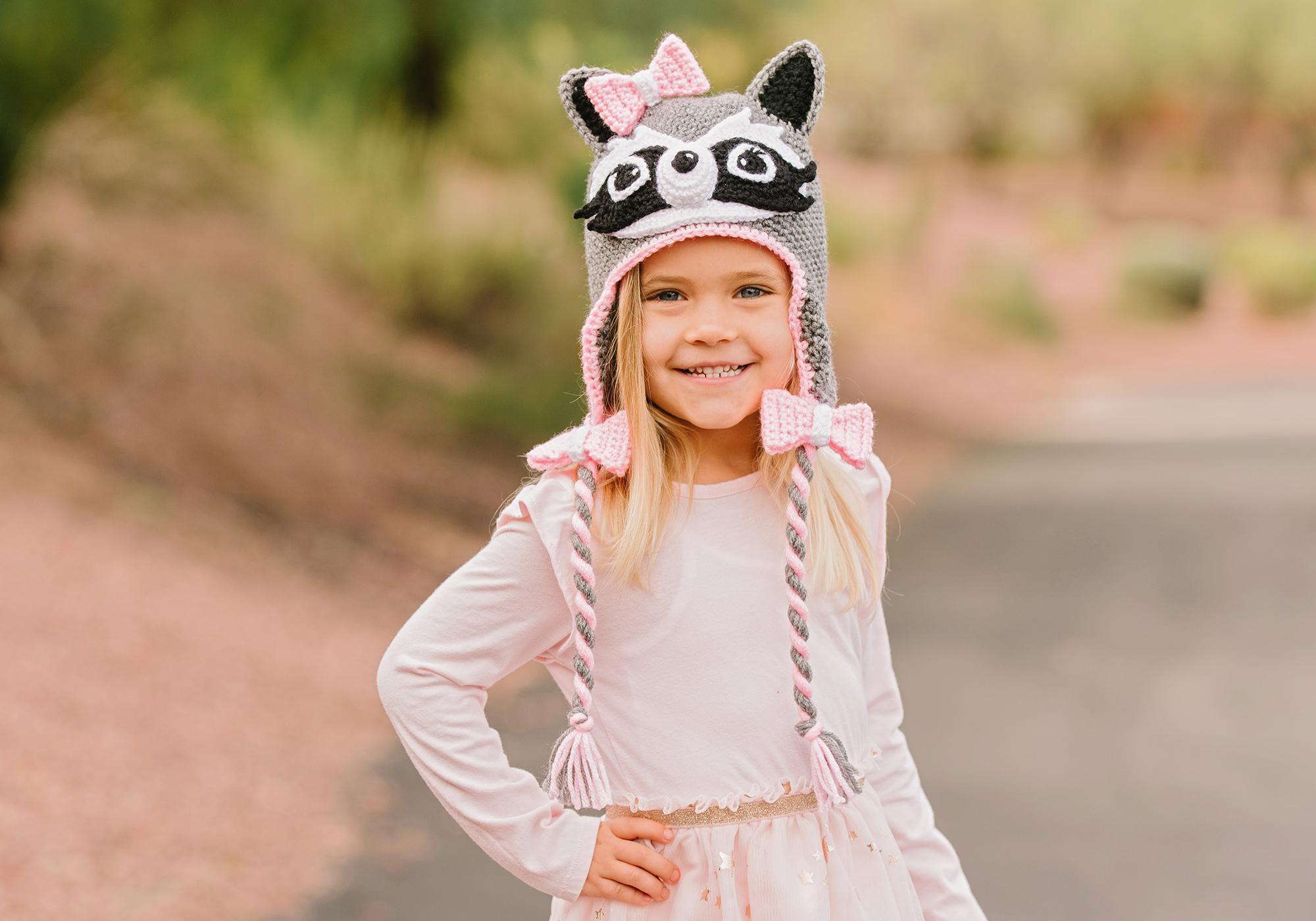 Girl Raccoon Hat Instructions