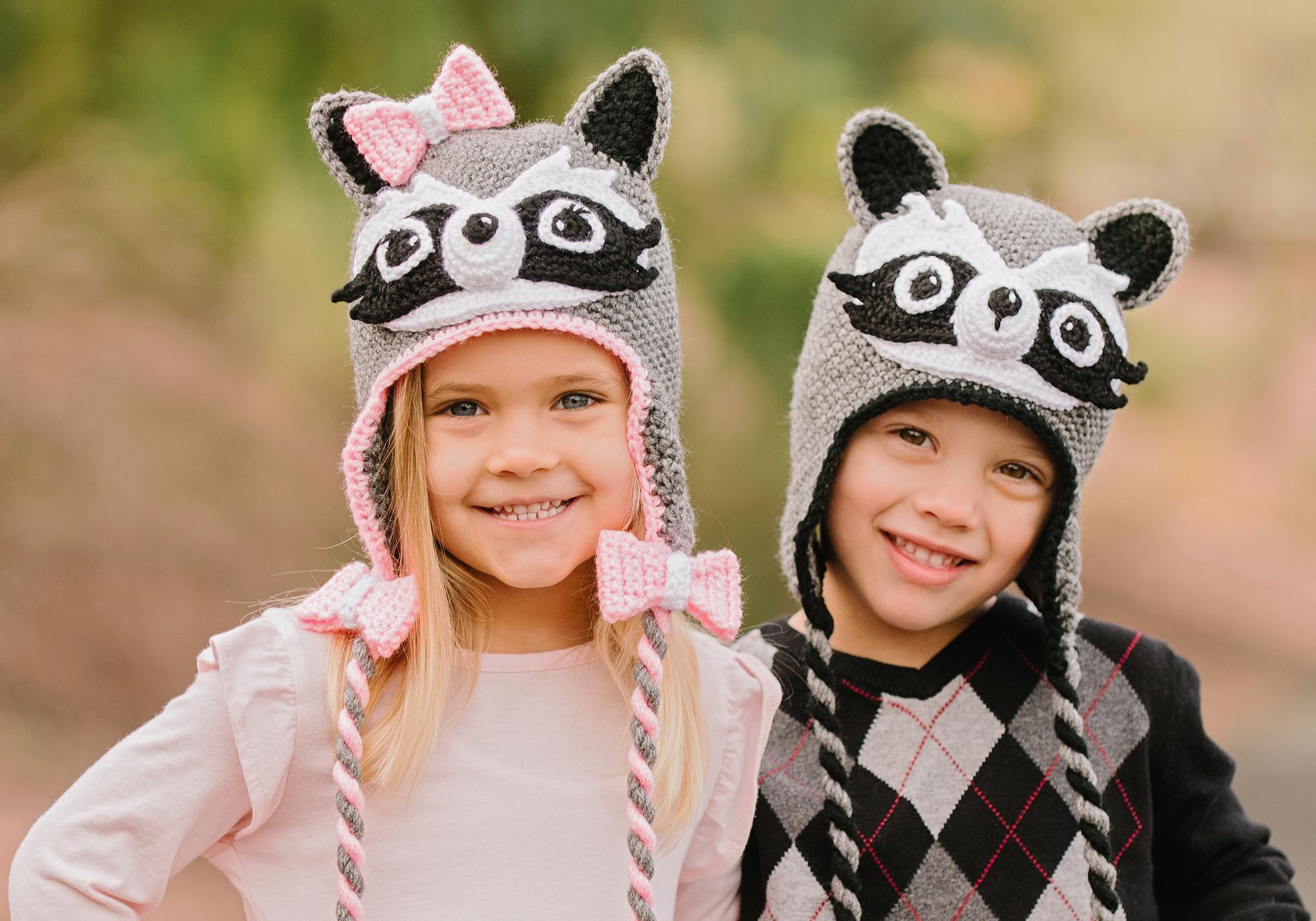 Crochet Raccoon Hat Pattern