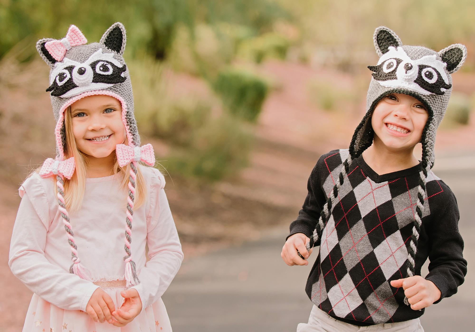Kids Raccoon Hat Pattern