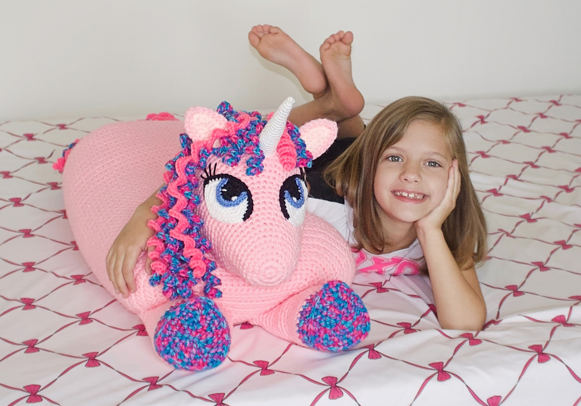 Giant Amigurumi Unicorn