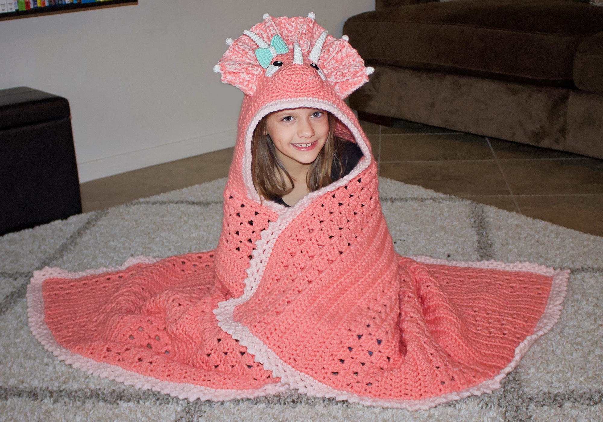 Girl Dinosaur Blanket