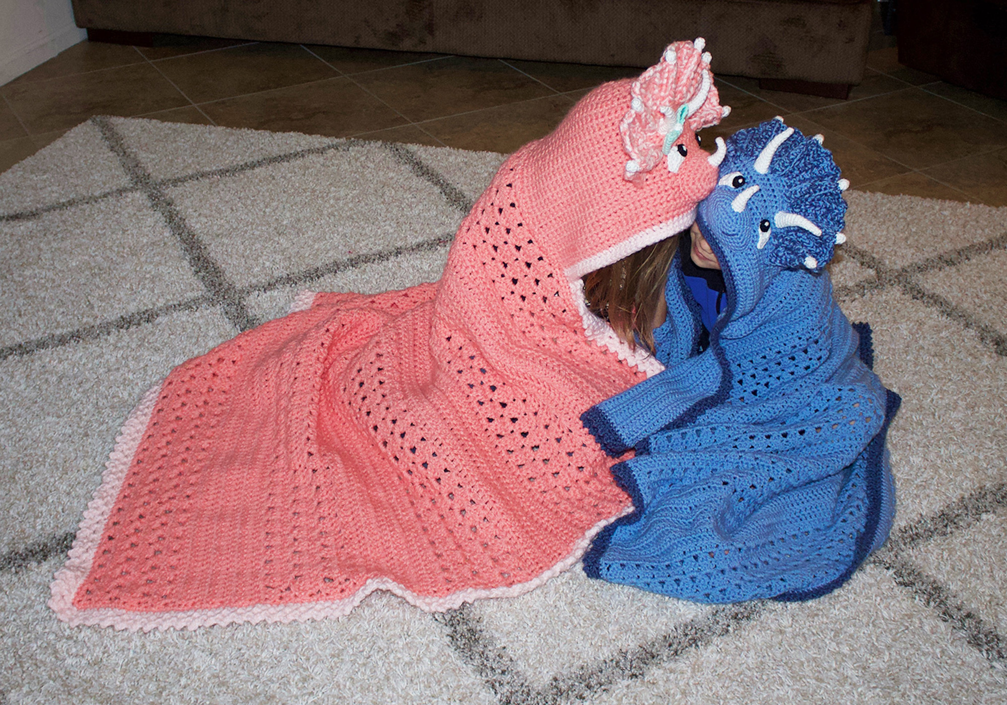 Hooded Dinosaur Blankets